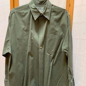 Men's Eddie Bauer button down shirt olive green